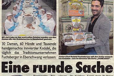 Kronen Zeitung OÖ, Februar 2015