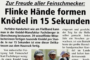 Landl, Ausgabe Mai 2009, Rubrik Kulinarik